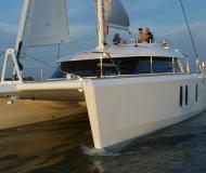 Catamaran Isara 45 available for charter in Tourlos Marina