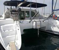 Cat Lagoon 410 available for charter in Alimos Marina Kalamaki