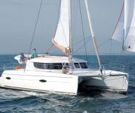 Cat Lipari 41 available for charter in Marina Le Marin
