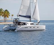 Cat Nautitech 441 available for charter in Marina Anse Marcel