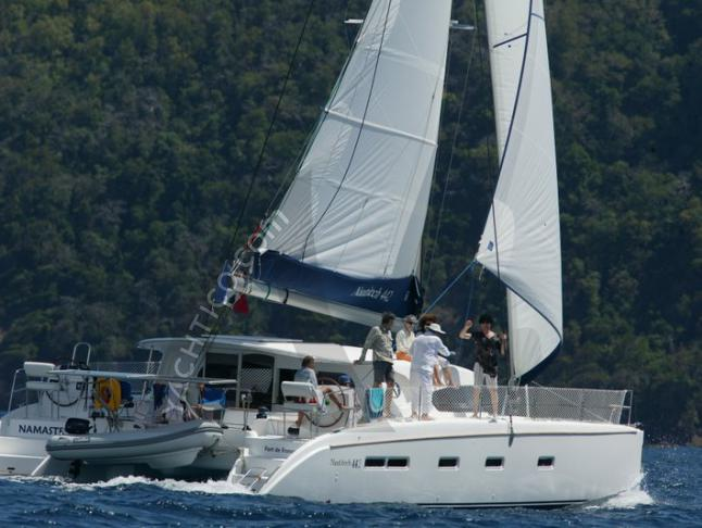 Catamaran Nautitech 442 available for charter in Le Marin