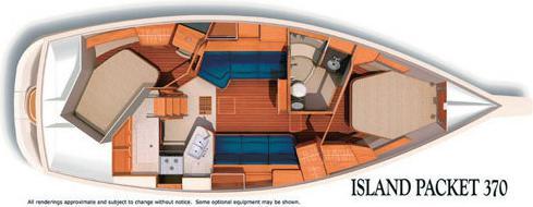 Segelboot Island Packet 370 in Red Hook leihen-37055-0