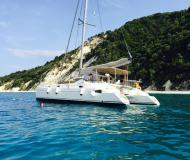 Cat Athena 38 available for charter in Lefkas Marina