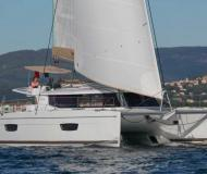 Cat Helia 44 for hire in Palma