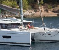 Cat Helia 44 Evolution for charter in Joma Marina