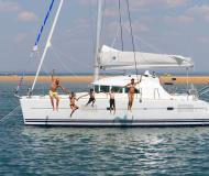Cat Lagoon 380 available for charter in Marina de Denia