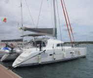 Cat Lagoon 380 available for charter in Marina Porto Colom