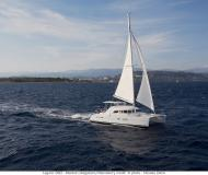 Catamaran Lagoon 380 available for charter in Abel Point Marina
