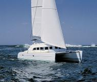 Catamaran Lagoon 380 available for charter in Budva Marina