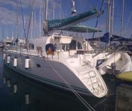 Catamaran Lagoon 380 available for charter in Kos Marina