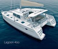Catamaran Lagoon 400 for charter in Marina Parikia Port