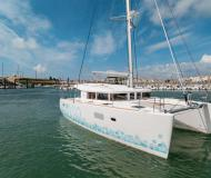 Cat Lagoon 400 S2 for charter in Port Louis Marina