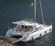 Cat Lagoon 420 for charter in Ece Saray Marina