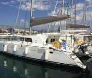 Cat Lagoon 440 for hire in Alimos Marina Kalamaki