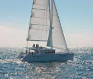 Catamaran Lagoon 450 available for charter in Marina di Portisco