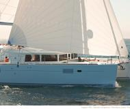 Cat Lagoon 450 for charter in Palm Cay Marina