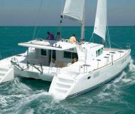 Catamaran Lagoon 450 available for charter in English Harbour