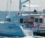 Cat Lagoon 450 for charter in Puerto Del Rey Marina