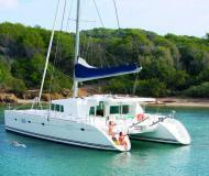 Catamaran Lagoon 500 available for charter in Bonifacio