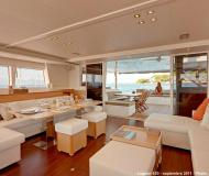 Cat Lagoon 620 available for charter in Tourlos Marina