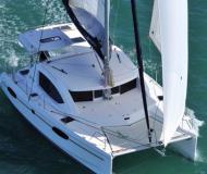 Catamaran Leopard 38 for hire in Marigot Bay Marina