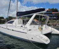 Motor yacht Leopard 47 for hire in Marigot Bay Marina