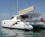 Catamaran Lipari 41 for hire in Marina Praslin