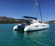 Cat Mahe 36 for hire in Marina di Portisco