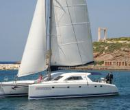 Catamaran Nautitech 475 for rent in Milos Marina