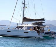 Cat Saba 50 for hire in Old Port of Mykonos City