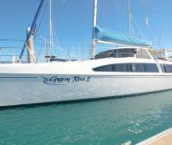 Cat Seawind 1160 for charter in Abel Point Marina