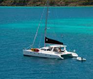 Katamaran Voyage 520 chartern in Sopers Hole Marina