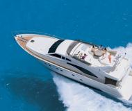 Motor yacht Ferretti 68 available for charter in Alimos Marina Kalamaki