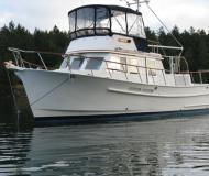 Motorboot Monk 36 Yachtcharter in Granville Insel Boatyard