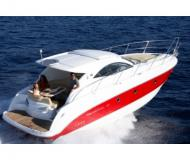 Motor boat Monte Carlo 37 Hard Top available for charter in Alimos Marina Kalamaki