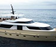 Motor boat San Lorenzo SD92 for charter in Marina di Olbia