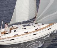 Sail boat Bavaria 36 available for charter in Skiathos main Harbour