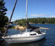 Sailing yacht Birdie 24 for hire in Sabyvikens Marina