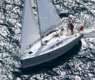 Sailing boat Elan 344 Impression available for charter in Real Club Nautico de Vigo