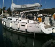 Sail boat Hanse 43 available for charter in Skiathos main Harbour