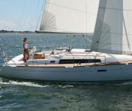 Sailing boat Oceanis 37 available for charter in Port Hamble Marina