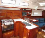 Sailing boat Oceanis 373 available for charter in Marigot Bay Marina