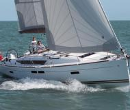 Yacht Sun Odyssey 479 available for charter in Finikas Marina