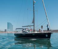Segelboot Sun Odyssey 54 DS Yachtcharter in Port Olimpic Marina