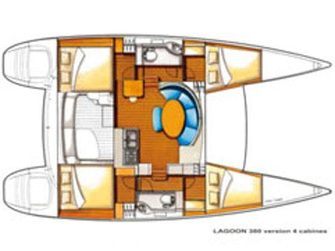 Kat Lagoon 380 Yachtcharter in Palermo-31408-0
