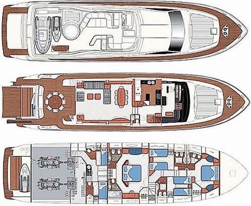 Motoryacht Ferretti 880 in Marina Punat mieten-30987-0