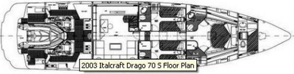 Yacht Italcraft Drago 70 in Port Hercules leihen-29789-0