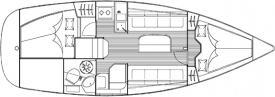 Segelboot Bavaria 30 Cruiser in Nydri Marina chartern-28721-0