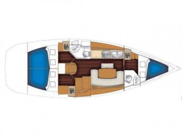 Cyclades 39 Segelyacht Charter Palma-31035-0