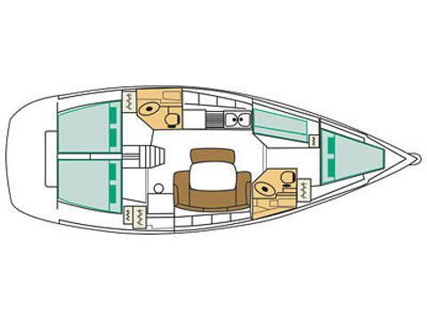 Segelyacht Cyclades 43.4 Yachtcharter in Marina La Lonja-30634-0